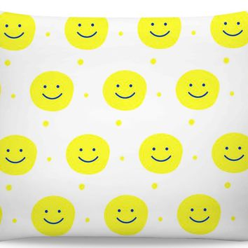 ROB Smiley Face Yellow Pillowcase