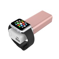 Element Works Dual Portable Backup Battery and Charger for Smartphones & Apple Watch- Apple Certified (Rose Gold)