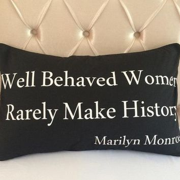 Marilyn Monroe Inspired Cotton Pillow Case