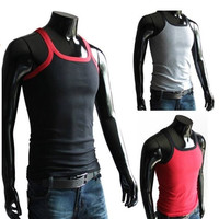 Men's Cotton Lightweight Slim Fit Body Shaper Tank Top Shirt