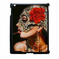 Floral Sugar Skull Cigarettes iPad 4 Case