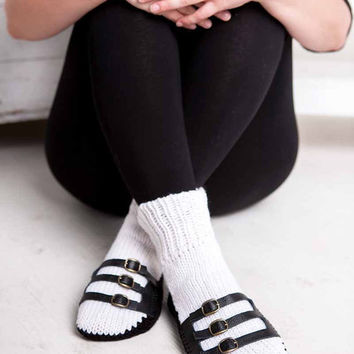 Knit Slipper Sock Adult Sandal Sock Faux Sandal White House Slippers Womens Slippers Home Slippers Black House Shoes Home Shoes
