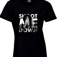 Lil Wayne Shoot Me Down Mask  Womens T Shirt
