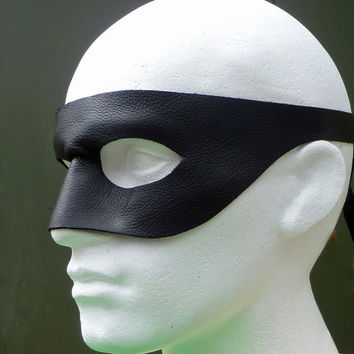 THE LONE RANGER Mask in Leather. Designed & Hand Crafted in Wales.