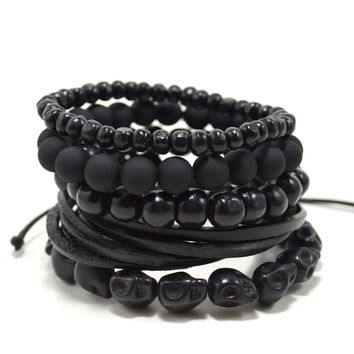 5 Pack Black Out Bracelet
