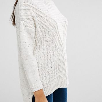 Boohoo Cable Rib Knit Sweater at asos.com