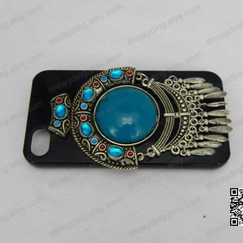 dream catcher iphone case 3D blue diamond case Crystal iphone case for iphoen 5s iphone 5 iphoen 4/4s Christmas gift