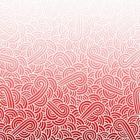 Ombre red and white swirls doodles Fabric Fabric