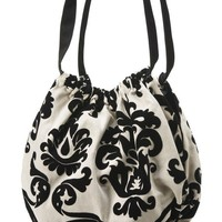 "Balloon"" a black and white floral velvet print light weight fun vegan handbag-This bag is made to order. Valentine's Day present"