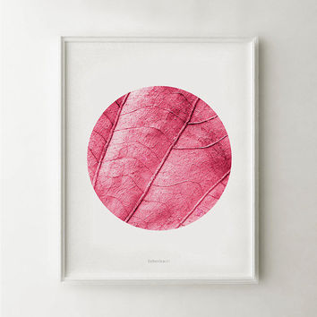 Pink decor, Pink artwork, Leaf photo, Pink nature art, Pink wall art, Pink photo, Girly wall art, Pink wall decor, 8x10 Printable women gift