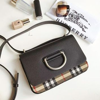 Burberry New Fashion High Quality Plaid Leather Shopping Women Shoulder Bag