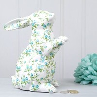 Floral Bunny Money Box