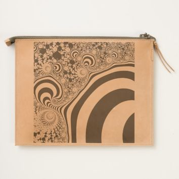 Striped fractal. travel pouch