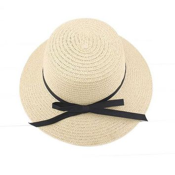 Women Sun Hats Straw Made Bowknot Lady Summer Beach Hat Bohemian Style All Matched Sunhat Sombrero #2415