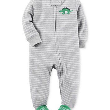 Carter's 1-Pc. Stripes & Dinosaurs Footed Coverall, Baby Boys (0-24 months) | macys.com