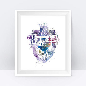 Ravenclaw Crest Instant Digital Download Harry Potter Print Ravenclaw Watercolor Harry Potter Gift Office Home Decor Wall Art