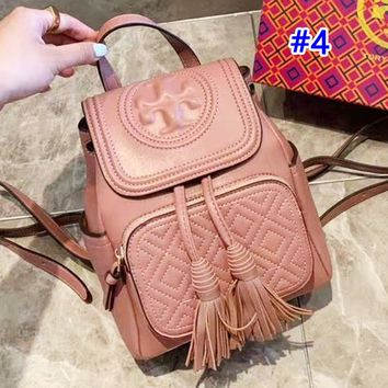 Tory Burch sells casual solid color lady's shopping bag with stylish turtleneck backpack #4