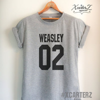 Weasley Shirt WEASLEY02 T-Shirt Print on Front or Back Side Women Men Unisex T-shirt White/Black/Grey/Red