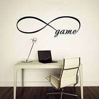 Wall Decal Vinyl Sticker Decals Art Home Decor Murals Quote Decal Infinity Symbol Wall Decal Infinity Loop Game Bedroom Home Decor Decals Vinyl Lettering V963