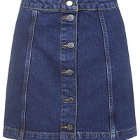 TALL Denim Button Front Skirt - Skirts - Clothing