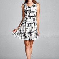 Abstract Print Day To Night Dress