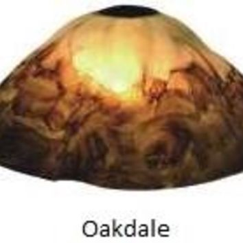 Oakdale Hand Blown Glass Lamp Shade