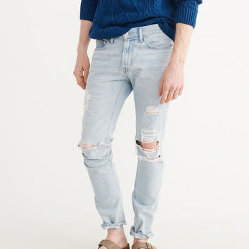 Mens Ripped Skinny Jeans | Mens Bottoms | Abercrombie.com