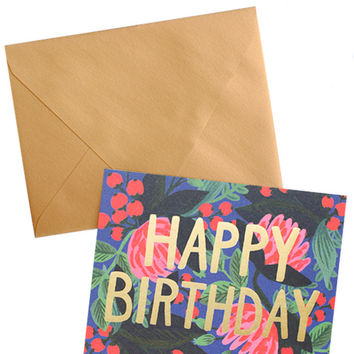 Birthday Floral Foil Card Set