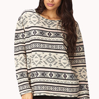 Chic Tribal Print Sweatshirt