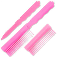 Pink Hidden Knife Comb