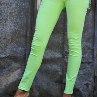 Mint Chocolate Chip Skinny Jeans | Hope's