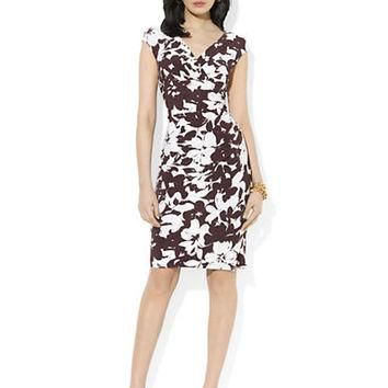 Lauren Ralph Lauren Plus Printed Empire Dress