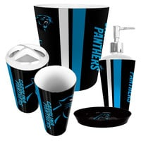Carolina Panthers NFL Complete Bathroom Accessories 5pc Set