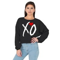 XO The Weeknd California Fleece Cropped American Apparel Sweatshirt