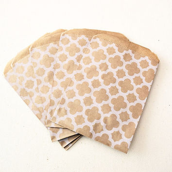 Craft Brown Moroccan Pattern Favor Bags