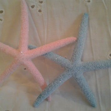 100 Glittery Starfish for Wedding or Party Favors You choose the colors Beach Home Decor