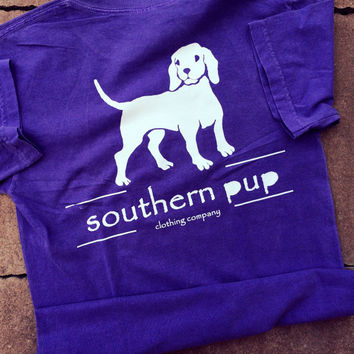 Southern Pup Logo Tee-Comfort Colors-Preppy