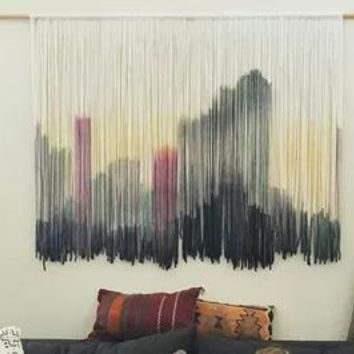 City Skyline Macrame Wall Decor