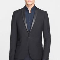 Men's The Kooples Trim Fit Single-Button Wool & Mohair Sport Coat,