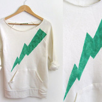 LIMITED STOCK Green Lightning Bolt Hand by twostringjane on Etsy
