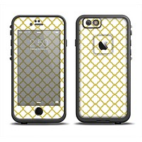 The Yellow & White Seamless Morocan Pattern V2 Apple iPhone 6 LifeProof Fre Case Skin Set