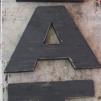 Reclaimed Wood EAT sign. Kitchen sign. Dining sign. 8 Inch Letters. Made to Order