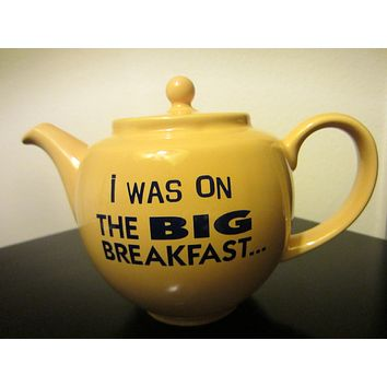 James Sadler England Yellow Ceramic Teapot Big Breakfast