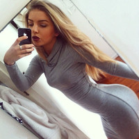 Fashion Tight Long-Sleeved Dress