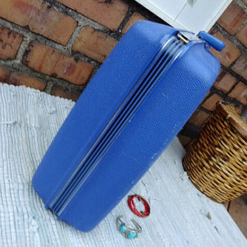 Retro Samsonite Concord Hardshell Blue Suitcase Vintage Luggage & Accessories Traveler Weekender Retro 1970s Hipster Carry On Bag Beach