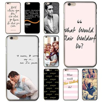 Gossip Girl Blair Chuck Bass Phone Case for iPhone 8 7 6 6S Plus X 5 5S SE