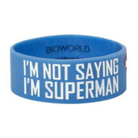 DC Comics Superman I'm Not Saying Rubber Bracelet