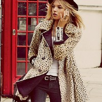 Free People Leopard Swing Coat