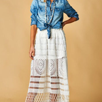 Crush on You Crochet Maxi Skirt
