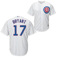 Youth Chicago Cubs Kris Bryant White Home Cool Base Player Jersey
